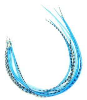 Bleu tendre - plumes pour cheveux