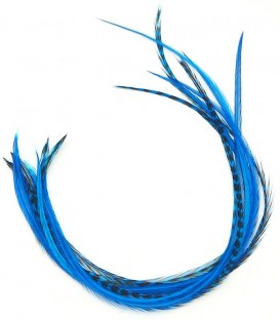 Plume pour cheveux - Bleu profond