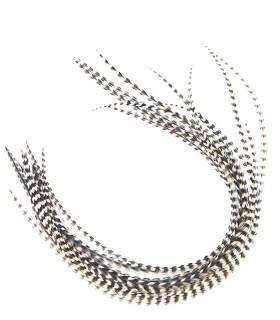 Plume pour cheveux - Noir & blanc naturel