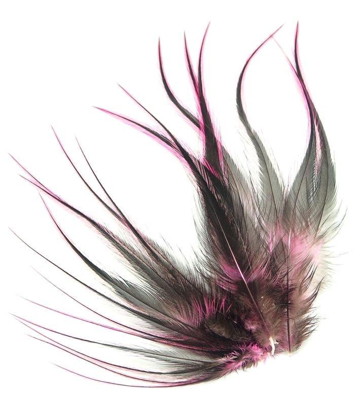 Rose tendre - plumes courtes à fixer dans les cheveux