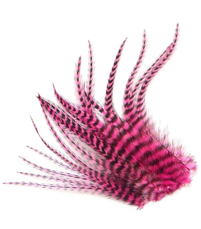 Rose flashy - plumes courtes à fixer dans les cheveux