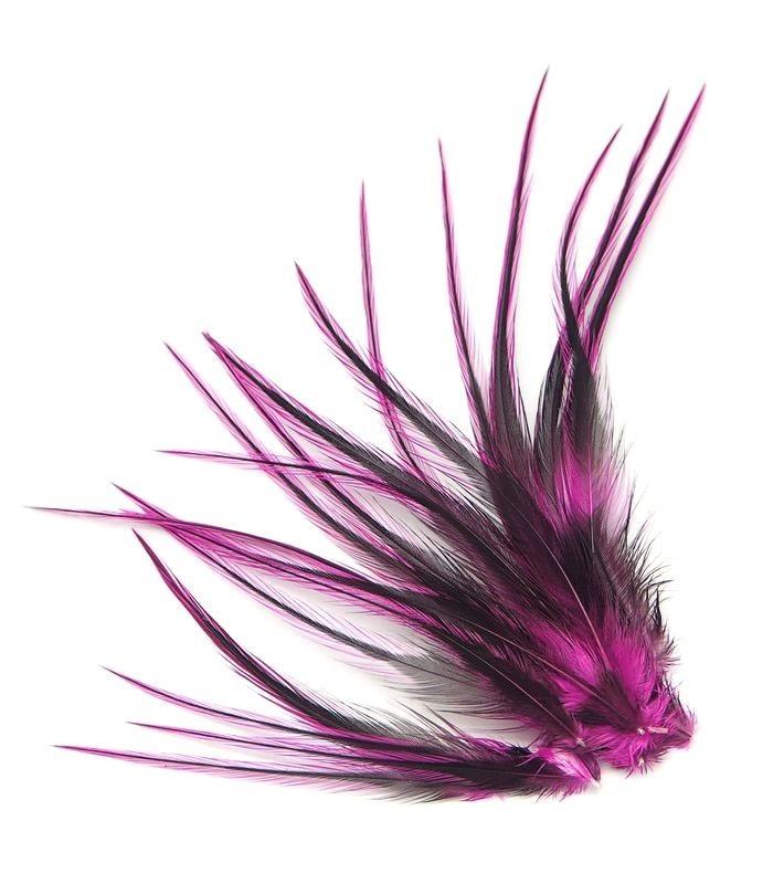 Fushia - plumes courtes à fixer dans les cheveux