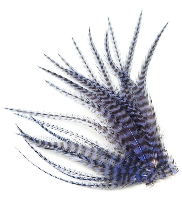 Violet Janthina - plumes courtes à fixer dans les cheveux