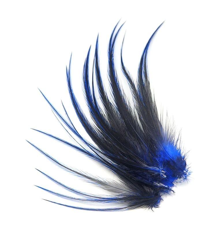 Indigo intense - plumes courtes à fixer dans les cheveux