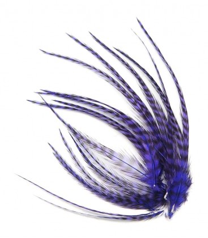 Violet profond - plumes courtes à fixer dans les cheveux