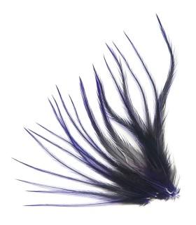 Plume courte pour cheveux - Violet profond