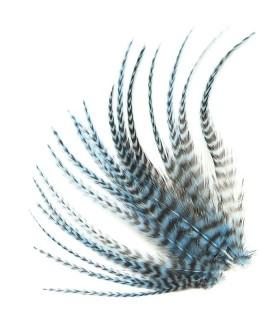 Plume courte pour cheveux - Bleu tendre