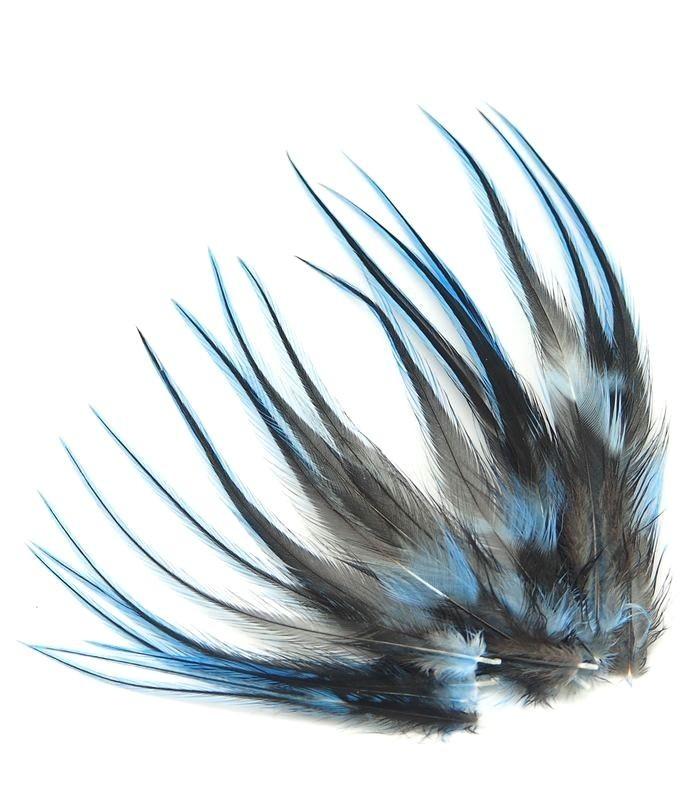 Bleu tendre - plumes courtes à fixer dans les cheveux