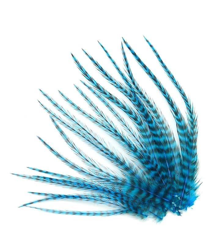 Bleu profond - plumes courtes à fixer dans les cheveux