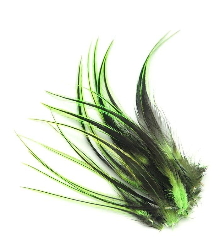 Vert flashy - plumes courtes à fixer dans les cheveux