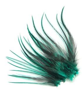 Plume courte pour cheveux - Vert velours