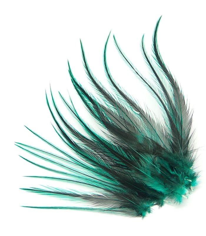 Vert velours - plumes courtes à fixer dans les cheveux
