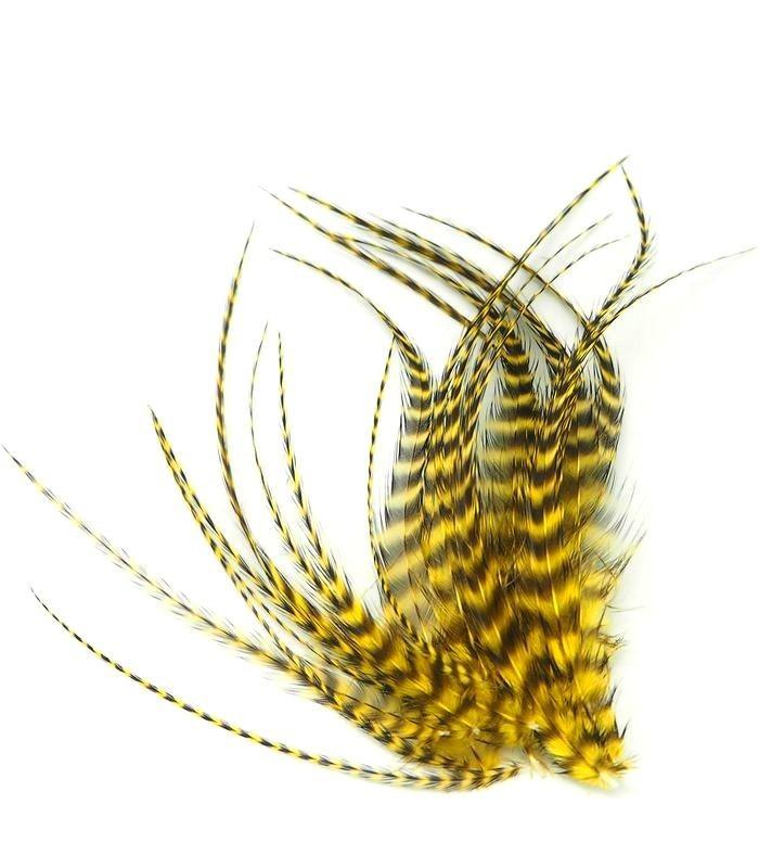 Jaune citron - plumes courtes à fixer dans les cheveux