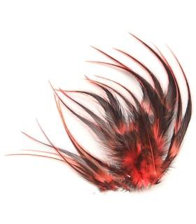Corail fluo - plumes courtes à fixer dans les cheveux