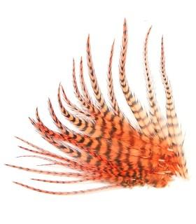 Orange - plumes courtes à fixer dans les cheveux