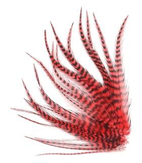 Rouge pur - plumes courtes à fixer dans les cheveux