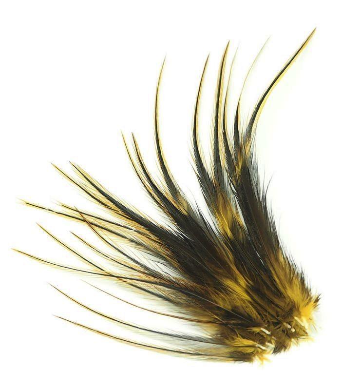 Mordoré - plumes courtes à fixer dans les cheveux