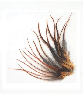 Cannelle - plumes courtes à fixer dans les cheveux