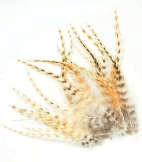 Apache naturel - plumes courtes à fixer dans les cheveux
