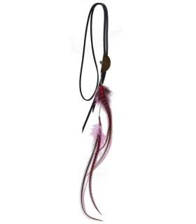 Sautoir en plumes naturelles - Collection Melrose